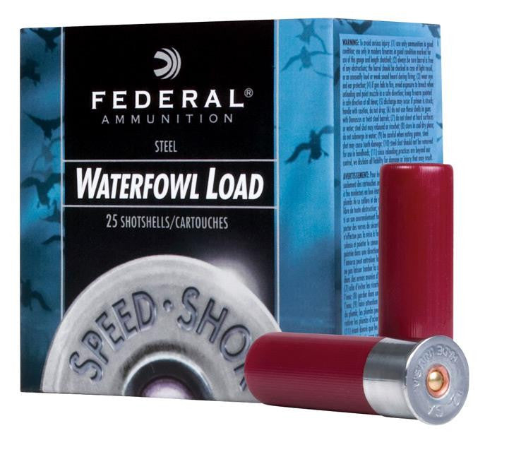 "Federal Speed-Shok Waterfowl 12 Gauge 2-3/4"" #2 Steel Ammunition WF1472"