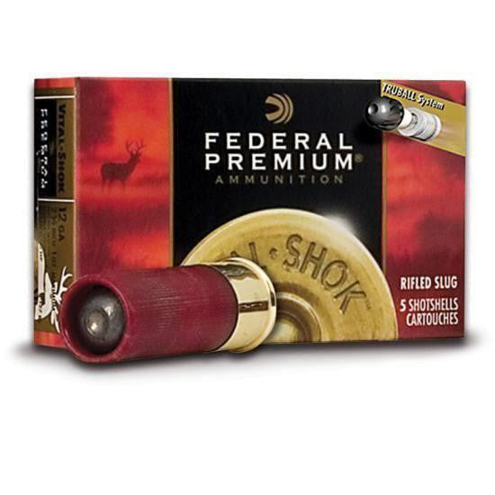 "Federal Vital-Shok 12 Gauge 2-3/4"" Lead Rifle Slug Ammunition PB127LRS"