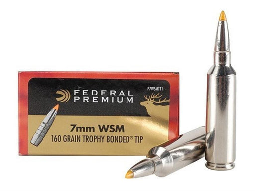 Federal Vital-Shok 7MM Win Short Mag 160 Grain Trophy Bonded P7WSMTT1