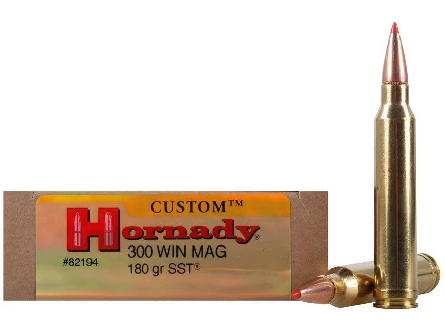 hornady custom 300 win mag 180 grain sst ammunition 82194 eagle supplies ltd