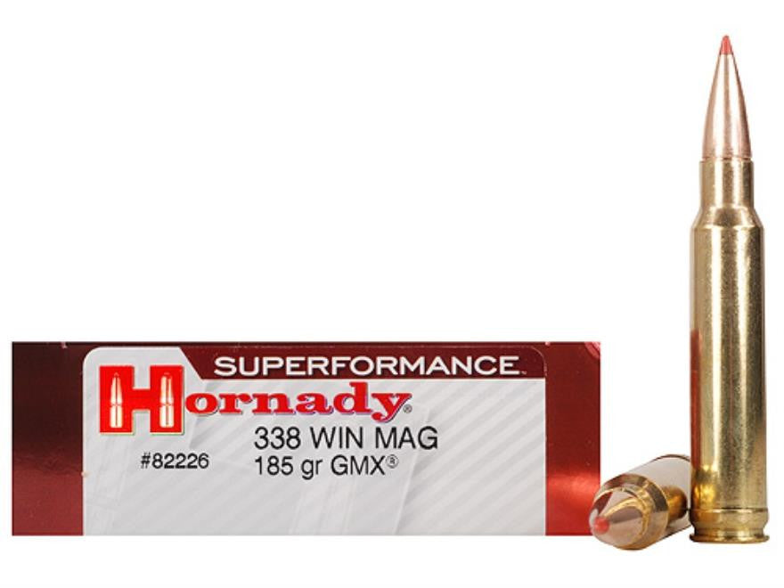 Hornady Superformance .338 Win Mag 185 Grain GMX 82226