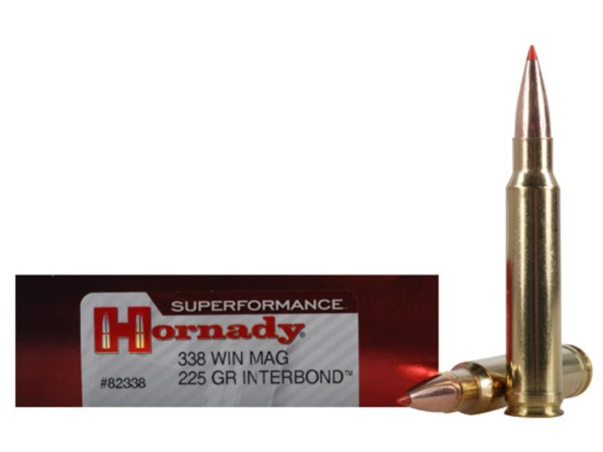 Hornady Superformance .338 Win Mag 225 Grain IB Ammunition 82338
