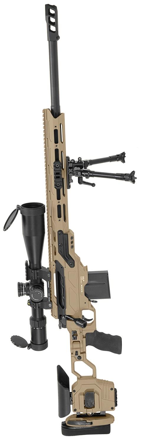 Cadex .308 Win Hybrid Tan and Black Guardian Lite with Muzzle Brake