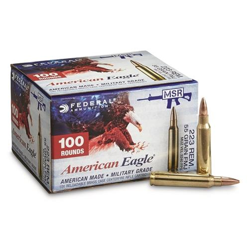 American Eagle .223 Remington 55 Grain FMJ 100 Rounds