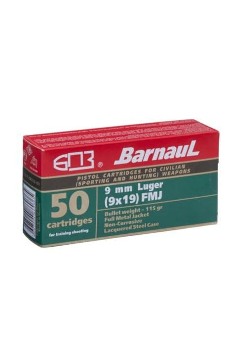 Barnaul 9MM 115 Grain FMJ Ammunition