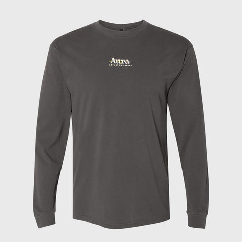 Vote for Adventure Embroidered Long Sleeve Tee - Shadow