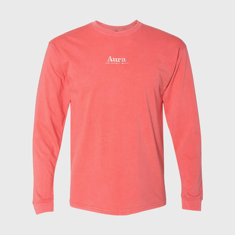 Vote for Adventure Embroidered Long Sleeve Tee - Salmon