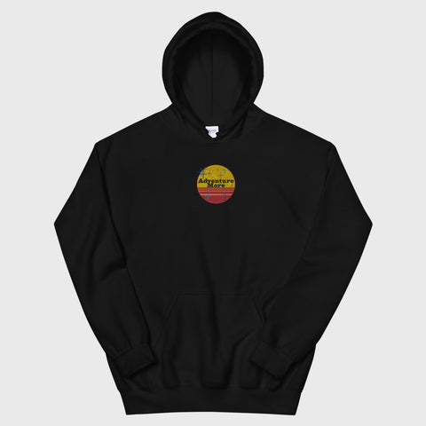 adventure more (and the living's easy) hoodie