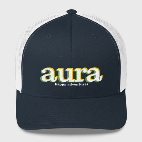happy adventures trucker hat