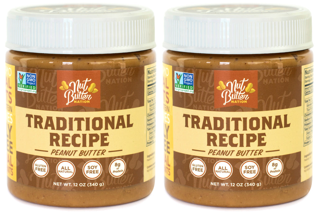 Traditional Flavor Peanut Butter - Pack of 2 (12 oz)