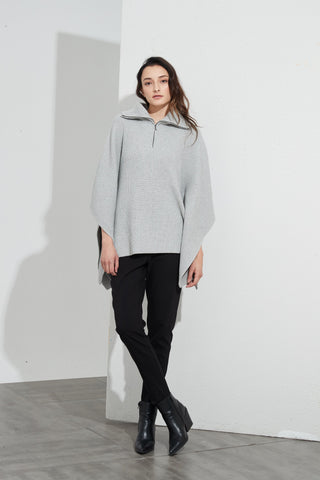 TIRELLI Zip Collar Poncho