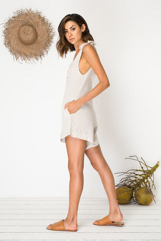 Bird & Kite Island Life Playsuit - Natural Linen