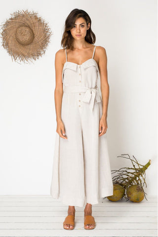 Bird & Kite Eyes For You Jumpsuit - Natural Linen