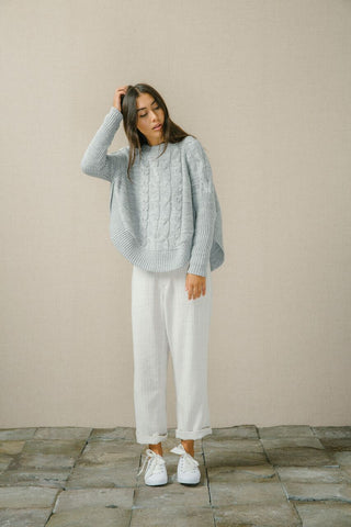 Bird & Kite  A Case of You Jumper - Light Grey Marle