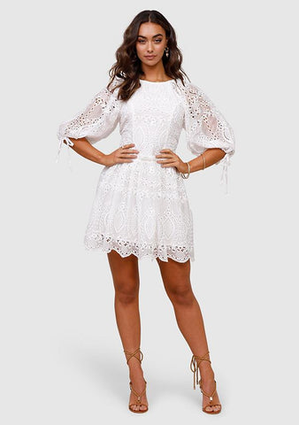 MINISTRY OF STYLE Splendour Embroidery Mini Dress