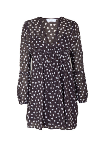 Auguste Manhattan Smock Mini Dress -  Black