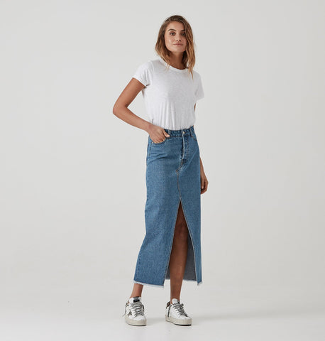 ENA PELLY Boyfriend Denim Skirt