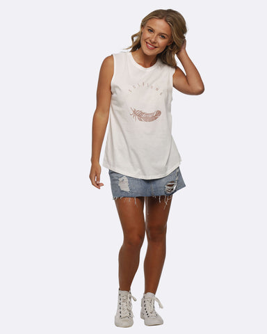 Folksong Tank - White