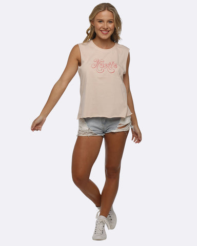 Folksong Hustle Cropped Tank - Blush