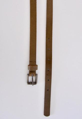 HUMIDITY Leather Belt - Khaki