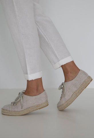 HUMIDITY Linen Sneaker - Natural