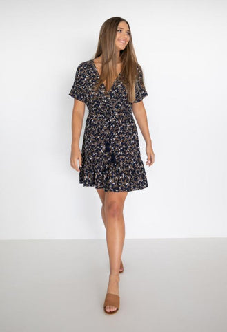 HUMIDITY Jasmine Dress - Navy