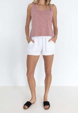 HUMIDITY Sea Side Linen Short - White