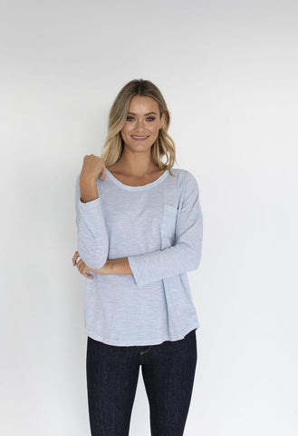 HUMIDITY Lazy Tee - Ice blue