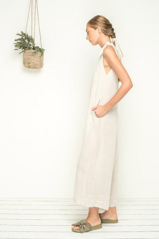 Bird & Kite Island Life Jumpsuit - Natural Linen