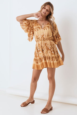 SPELL Coco Lei Flutter Sleeve Playdress