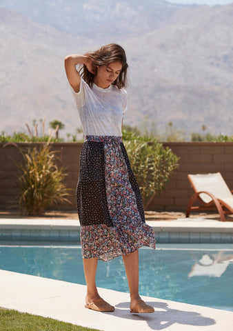 Auguste Palm Springs Belle Midi Skirt Black