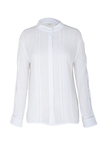 Auguste Paris Lattice Lace Shirt - White