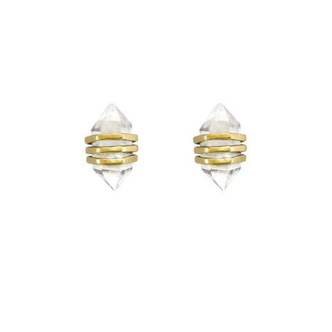 KRYSTLE KNIGHT Tiny Star Studs - Gold