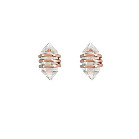 KRYSTLE KNIGHT Tiny Star Studs - Rose Gold