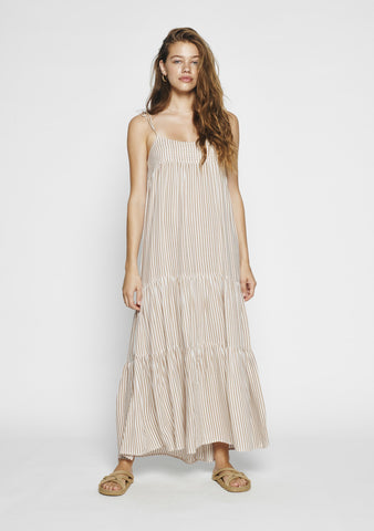Auguste Vacation Maxi Dress - Almond Stripe