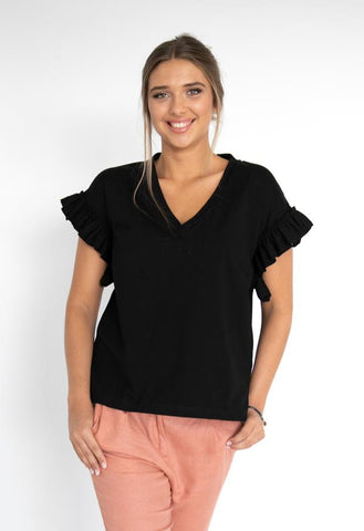 HUMIDITY Santorini Top - Black