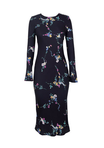 Auguste Dawn Spencer Long Sleeve Slip Midi Dress