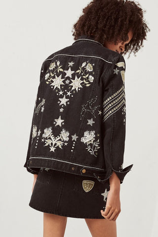 Spell Designs Celestial Embellished Denim Jacket