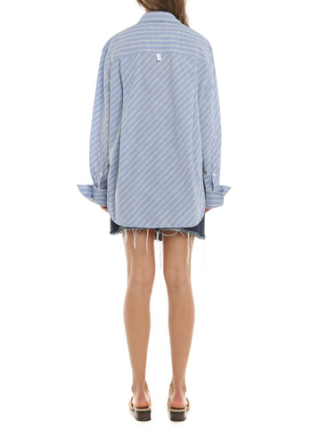 Interval Hanam Oversize Shirt - Blue Stripe