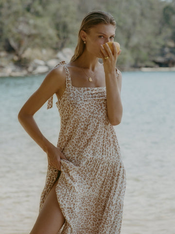 KIVARI Zion Leopard Midi Dress
