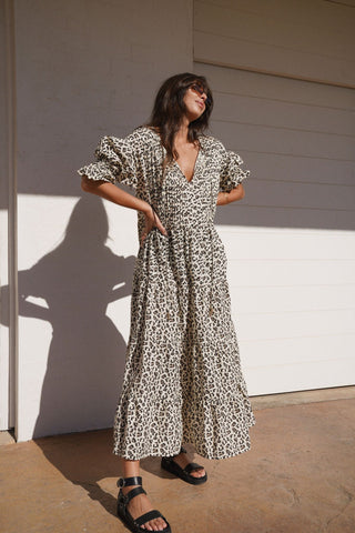 LA BOHÈME GIRLS Willow Maxi Dress Leopard