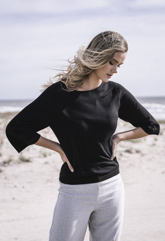 HUMIDITY Lianna Knit Top - Black