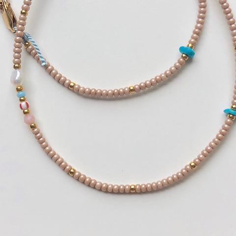 Athena+Co The Sands Turquoise Bead Choker Necklace