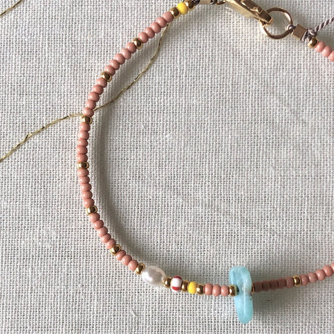 Athena+Co The Sands Larimar Bracelet