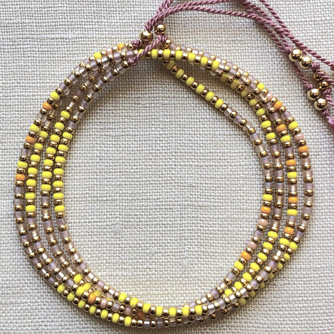 Athena+Co Yellow Wrap Bracelet