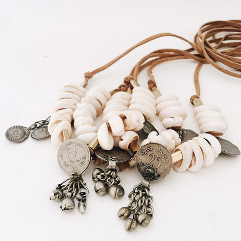 BELLEBIRD Shell & Vintage Trinket Necklace