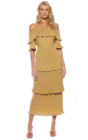 Pasduchas Sonny Pleat Midi Dress