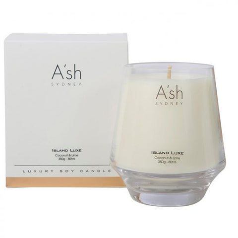 A'sh Island Luxe Glass Candle