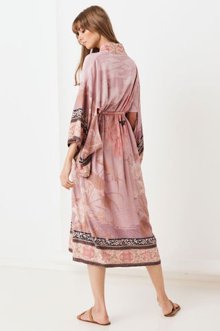 SPELL Cherry Blossom Robe - Dusty Pink