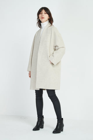TIRELLI Textured Coat - Oat